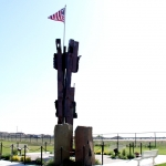 9-11 monument iron beams in Kennewick, Wa.